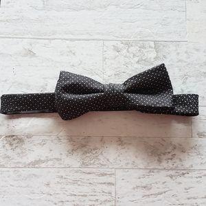 🔥4 for $25 Black Bow Tie White Polka Dot Textured
